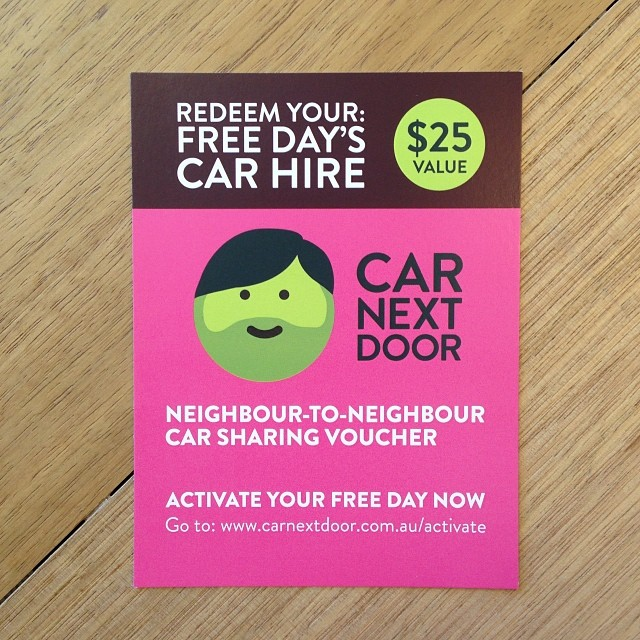 Exciting news, our coworker CarNextDoor has launched in Melbourne. Earn money from sharing your car or share a neighbour a car from $5/hr.