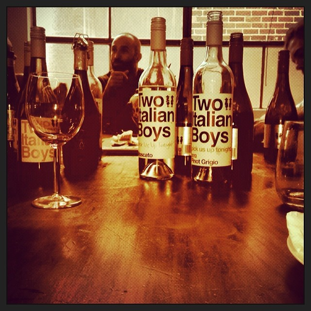 Impromptu wine tasting with @twoitalianboys #greatwine #greatcompany #coworking #depo8