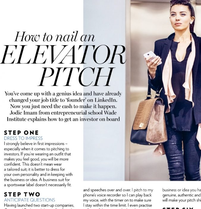 Marie Claire Elevator Pitch MAR18