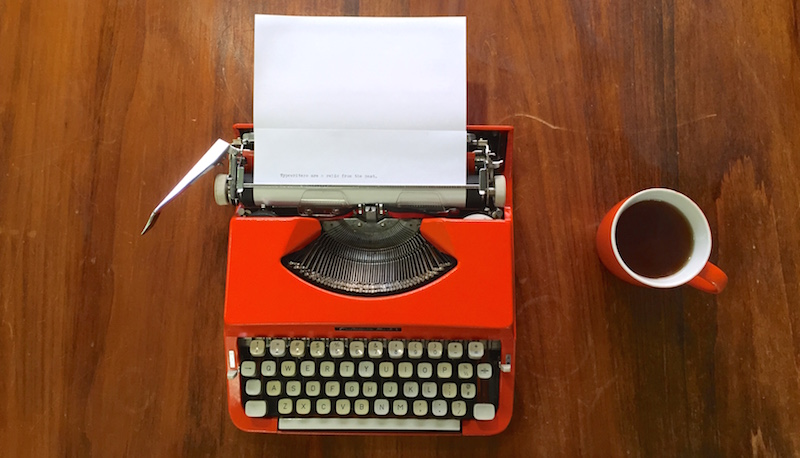 Orange Typewriter FEAT